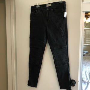Free people Moto black jeans size 31
